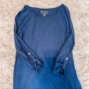✰ Lilly Pulitzer navy knit dress